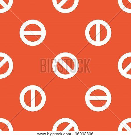 Orange NO sign pattern