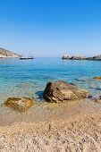 Beach in the Adriatic Sea on the island of Hvar Croatia. poster