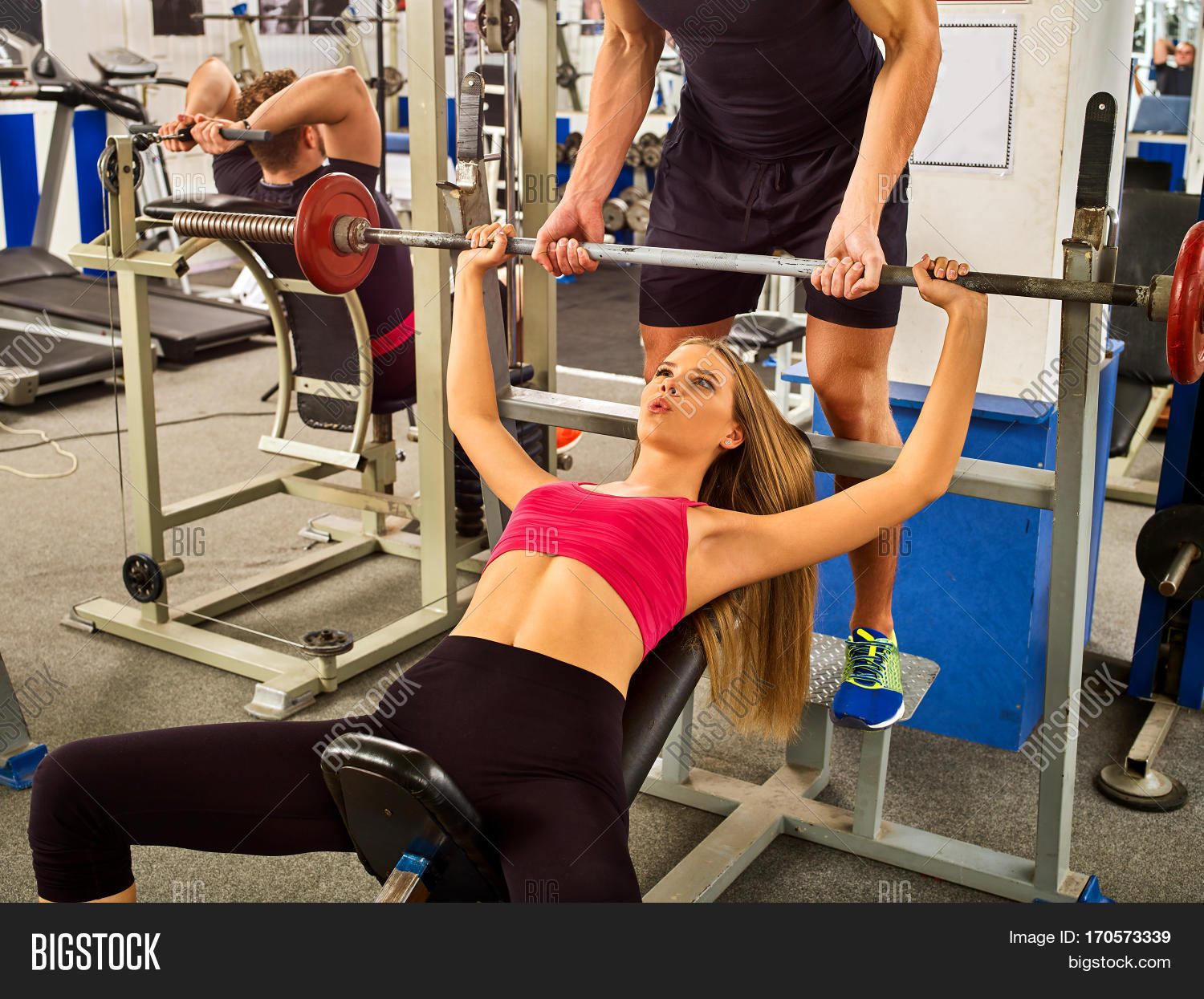 fitness friends workout gym woman image photo bigstock. Black Bedroom Furniture Sets. Home Design Ideas