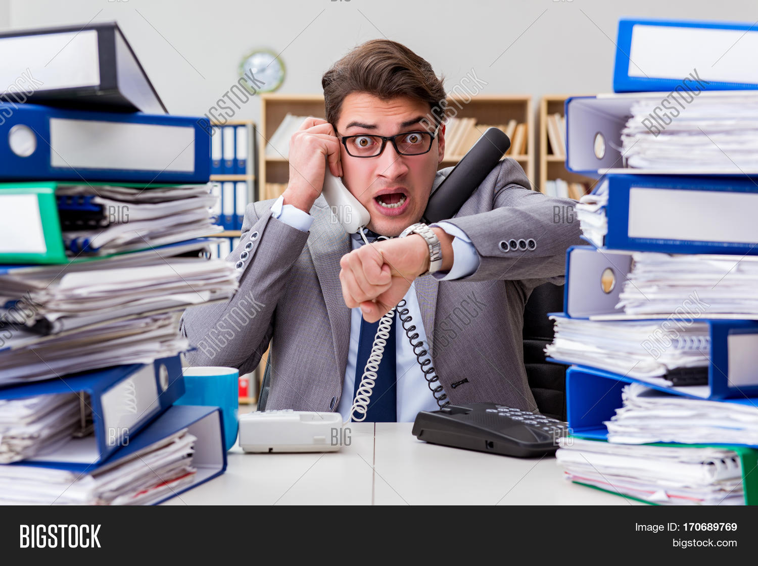 Busy Businessman Under Image & Photo (Free Trial) | Bigstock