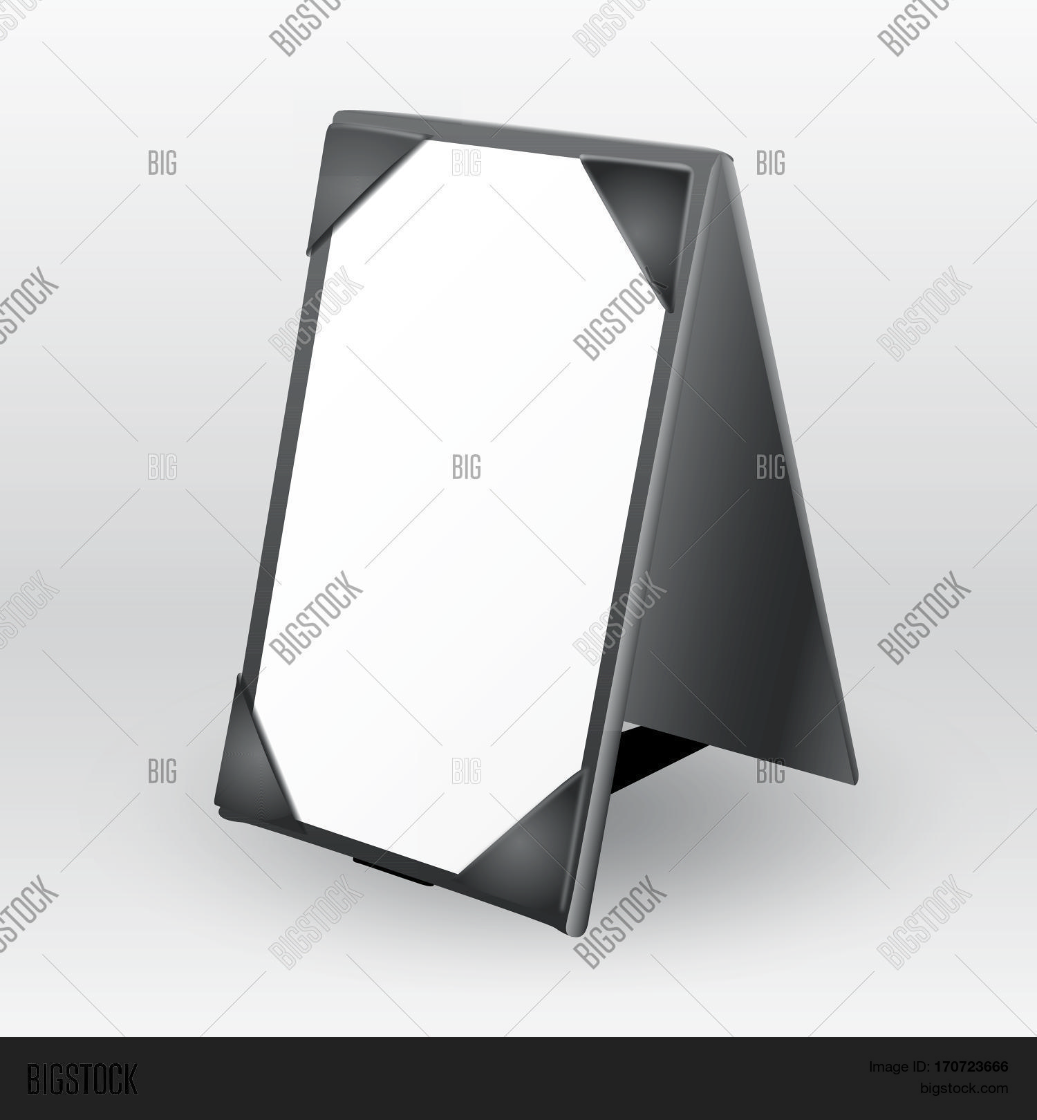 blank leather table tent sign for restaurant communication & Blank Leather Table Tent Sign Vector u0026 Photo | Bigstock