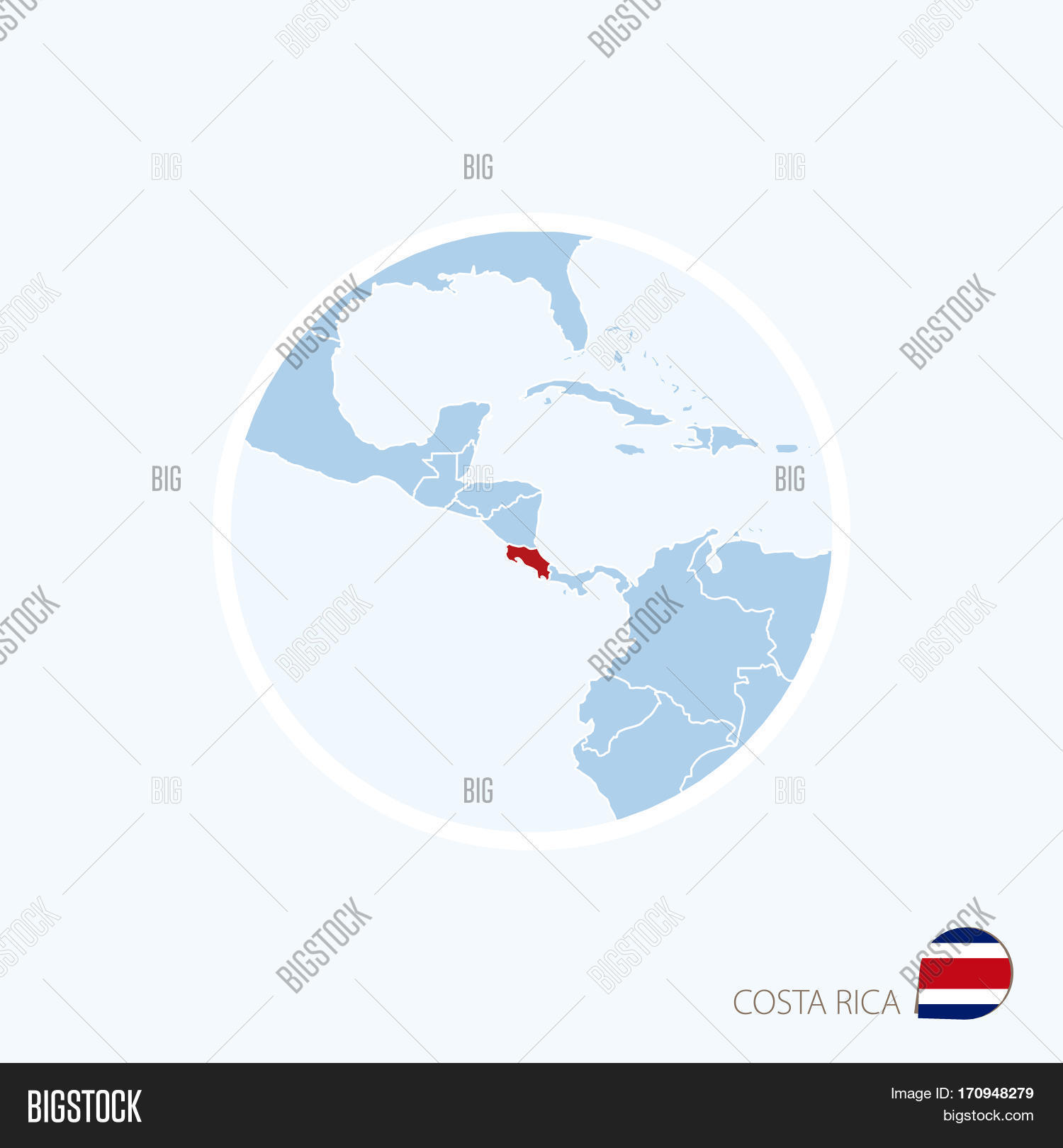 Map icon costa rica vector photo free trial bigstock map icon of costa rica blue map of central america with highlighted costa rica in gumiabroncs Images