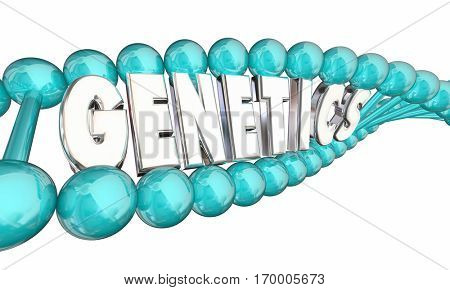 Genetics DNA Heredity Family Generations 3d Illustration
