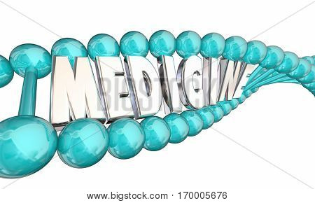 Medicine DNA Genetic Bio Medical Research Therapy 3d Illustration