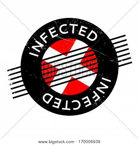 Infected rubber stamp. Grunge design with dust scratches. Effects can be easily removed for a clean, crisp look. Color is easily changed.