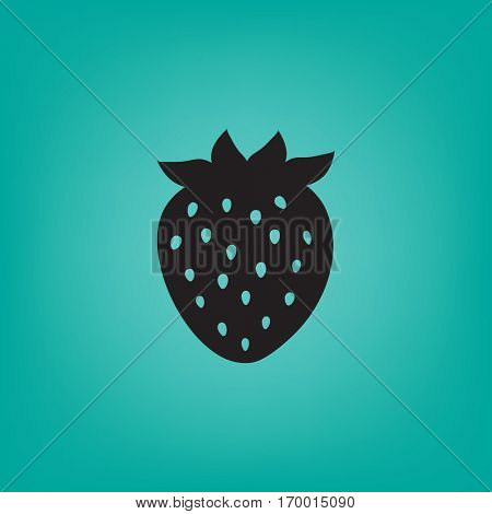 Flat icon. Strawberry.