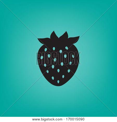 Flat icon. Strawberry.