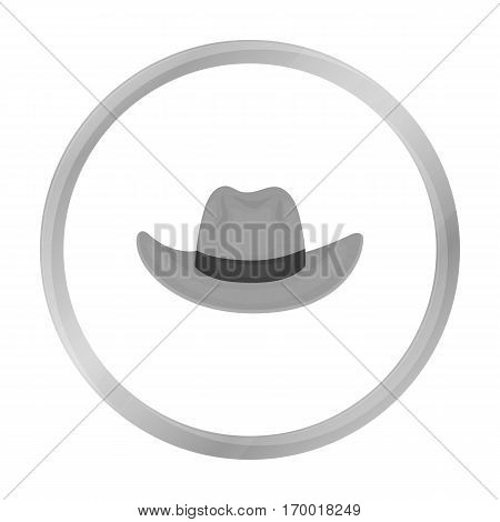 Cowboy hat icon in monochrome style isolated on white background. Hats symbol vector illustration.