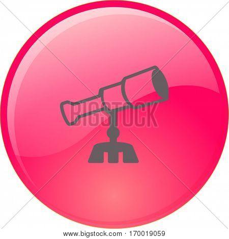 Flat icon. Telescope.