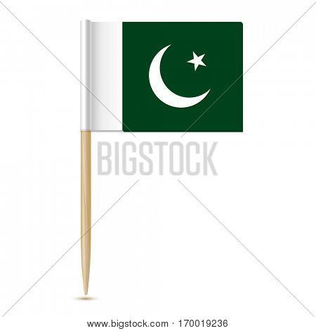 Pakistan flag toothpick isolated on white background