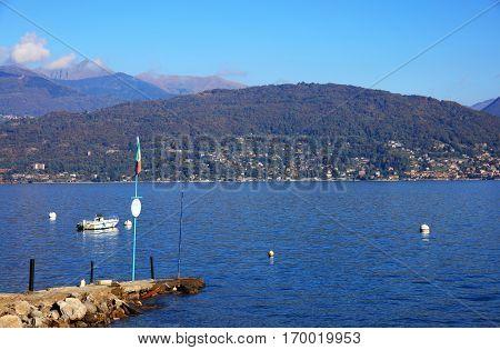 Isola dei Pescatori on the Lago Maggiore, Northern Italy, Europe