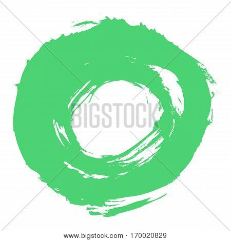 Quick and easy re-colorable shape. Brush stroke in the form of a circle. Drawing created in ink sketch handmade technique. Vector illustration a graphic element