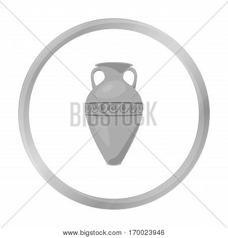 Greece amphora icon in monochrome style isolated on white background. Greece symbol vector illustration.