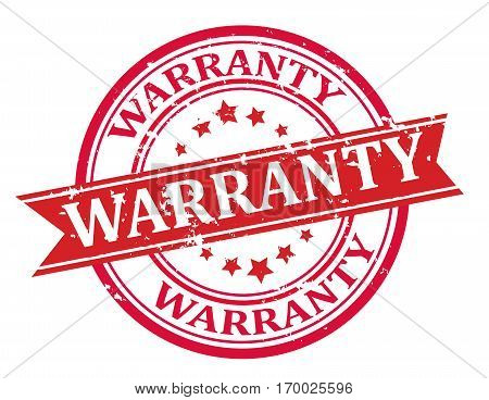 Warranty stamp design , insignia isolated on white