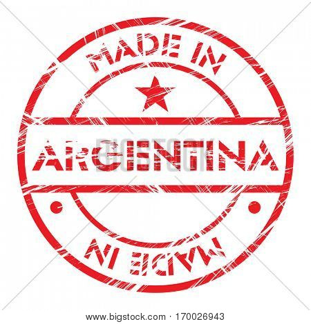 Made in Argentina grunge rubber stamp