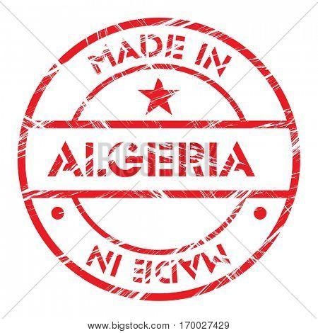 Made in Algeria grunge rubber stamp