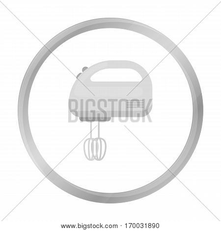 Mixer icon in monochrome style isolated on white background. Household appliance symbol vector illustration.
