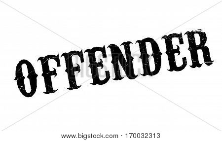 Offender rubber stamp. Grunge design with dust scratches. Effects can be easily removed for a clean, crisp look. Color is easily changed.