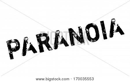 Paranoia rubber stamp. Grunge design with dust scratches. Effects can be easily removed for a clean, crisp look. Color is easily changed.