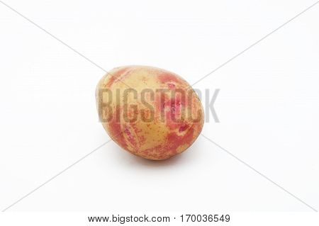 Quality of potatoes Picasso. Potatoes isolated on white background