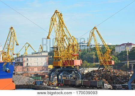 Freight Train, Ship And Scrap Metal