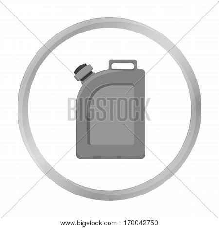 Oil jerrycan icon in monochrome style isolated on white background. Oil industry symbol vector illustration.