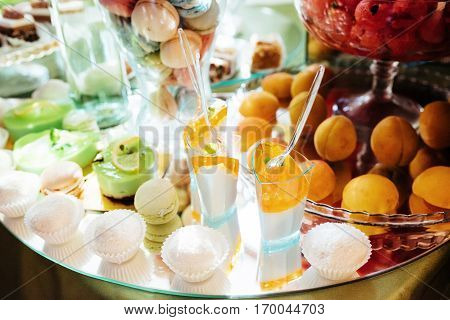 Good exquisite buffet table at a solemn event