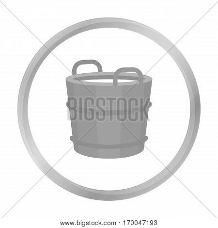 Milk bucket icon monochrome. Single bio, eco, organic product icon from the big milk monochrome stock vector