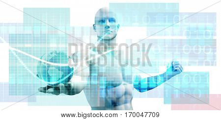 Digital Publishing and Electronic Magazine as Concept 3D Illustration Render