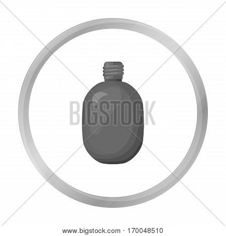 Army canteen icon in monochrome style isolated on white background. Military and army symbol vector illustration