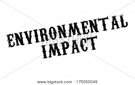 Environmental Impact rubber stamp. Grunge design with dust scratches. Effects can be easily removed for a clean, crisp look. Color is easily changed.