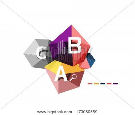 Vector colorful abstract low poly infographic vector background