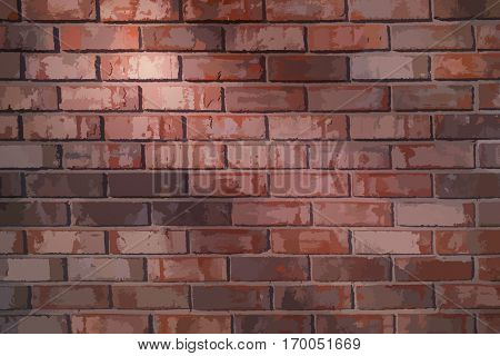 Vector brick wall background texture
