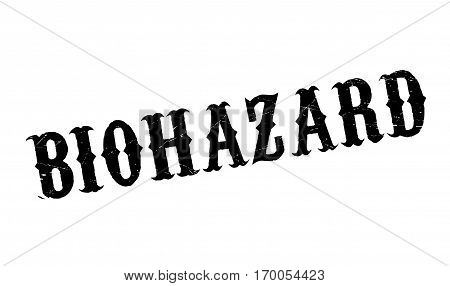 Biohazard rubber stamp. Grunge design with dust scratches. Effects can be easily removed for a clean, crisp look. Color is easily changed.