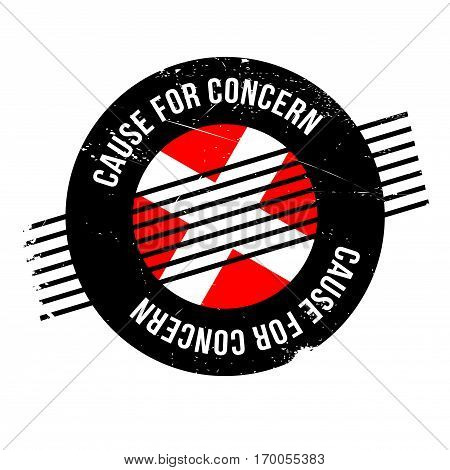 Cause For Concern rubber stamp. Grunge design with dust scratches. Effects can be easily removed for a clean, crisp look. Color is easily changed.