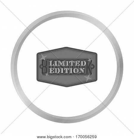 Limited edition icon in monochrome style isolated on white background. Label symbol vector illustration.