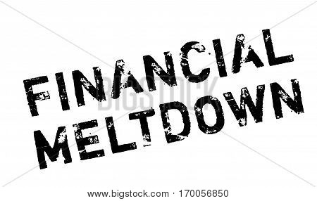 Financial Meltdown rubber stamp. Grunge design with dust scratches. Effects can be easily removed for a clean, crisp look. Color is easily changed.