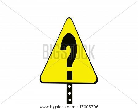 Triangle question mark sign