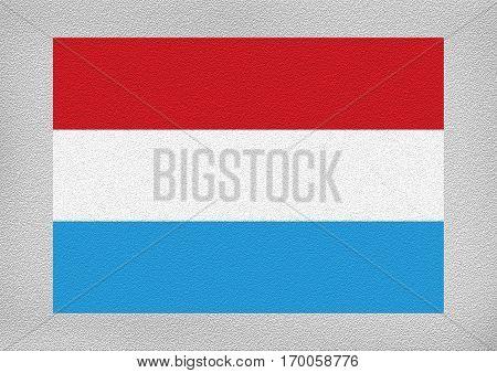 Luxemburg international flag on the leather texture