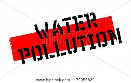 Water Pollution rubber stamp. Grunge design with dust scratches. Effects can be easily removed for a clean, crisp look. Color is easily changed.