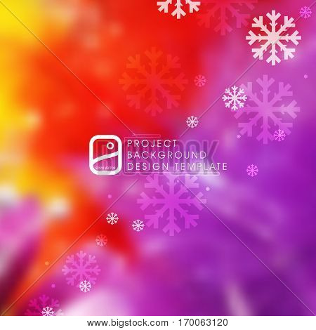 Christmas background design, colorful beautiful, transparent snowflakes, eps10 vector