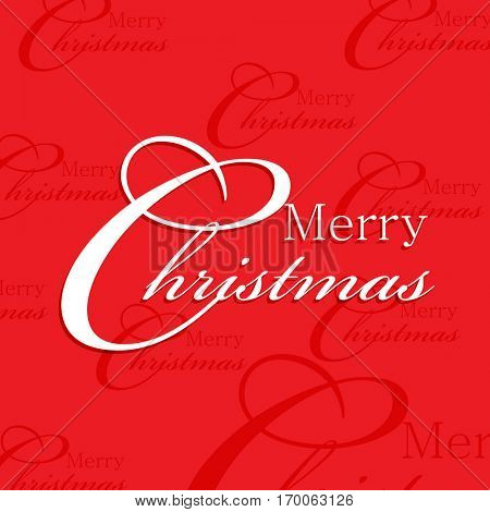 Christmas greetings on red background. eps10 vector