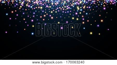 Abstract Christmas blue luminous background. Vector illustration.
