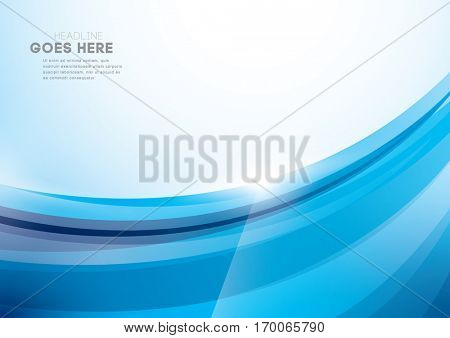 Vector of abstract swirl element and background