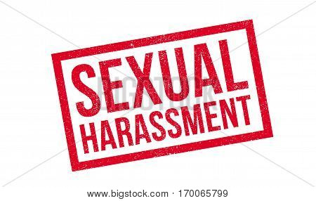Sexual Harassment rubber stamp. Grunge design with dust scratches. Effects can be easily removed for a clean, crisp look. Color is easily changed.