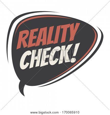 reality check retro speech balloon