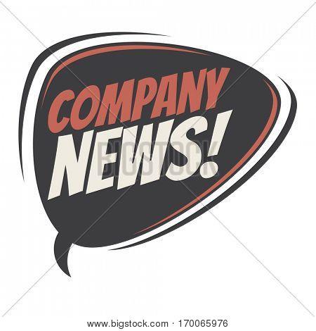 company news retro speech balloon