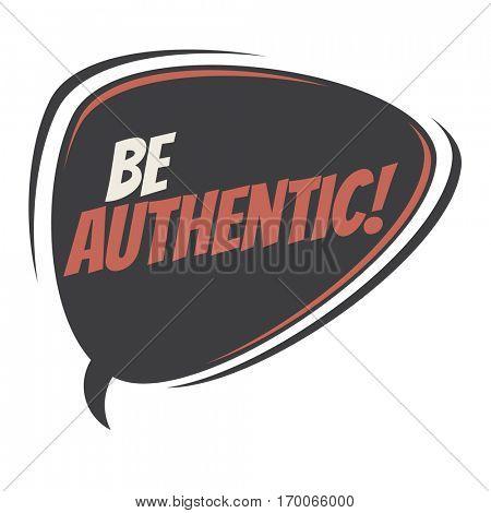 be authentic retro speech balloon