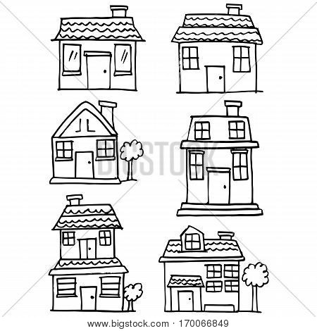 Vector illustration of house style set collection stock