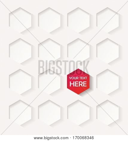 Abstract geometric background with hexagons. Design element